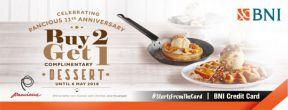 Buy 2 Get 1 Complimentary Dessert at Pancious dengan Kartu Kredit BNI
