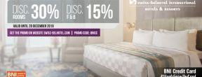 Diskon 30% di SwissBelhotel International dengan Kartu Kredit BNI