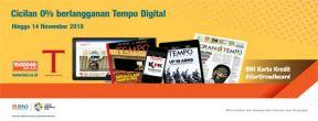 Cicilan 0% untuk Berlangganan Tempo Digital dengan Kartu Kredit BNI