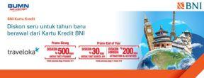 Promo Liburan Seru untuk Tahun Baru di Traveloka dengan Kartu Kredit BNI