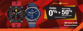 Hemat hingga 50% dengan BNI Reward Points untuk pembelian jam tangan di Watch World