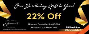 Get 20% Discount at Zalora 6th Anniversary dengan Kartu Kredit BNI
