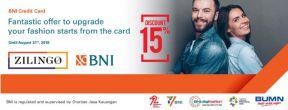 Diskon 15% di zilingo.com dengan Kartu Kredit BNI