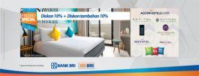 Diskon 10% + Ekstra Diskon 10% di Accor Hotels dengan Kartu Kredit BRI