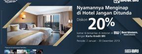 Diskon 20% di Best Western Hotel dengan Kartu Kredit BRI