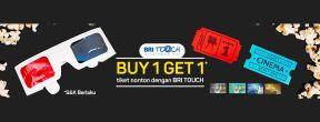 Buy 1 Get 1 Tiket Nonton BookMyShow dengan Kartu Kredit BRI TOuch