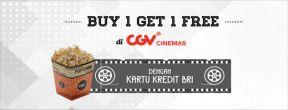 Beli 1 Gratis 1 Untuk Reguler Class 2D CGV Cinemas dengan Kartu Kredit BRI TOuch