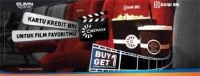 Buy One Get One Free di Cinemaxx untuk pemegang Kartu Kredit BRI