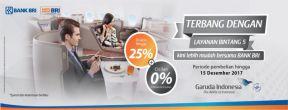 Diskon Hingga 25% Tiket Garuda Indonesia dengan Kartu Kredit BRI