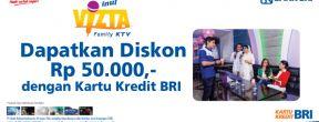 Diskon Rp 50.000 di Inul Vizta Family KTV dengan Kartu Kredit BRI