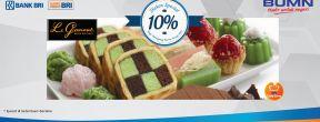 Diskon 10% di Le Gourmet dengan Kartu Kredit BRI