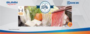 Diskon 15% di Shabu House bagi Pengguna Kartu Kredit BRI