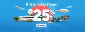 BRI Weekly Deals Traveloka Diskon Hingga 500ribu dengan kartu Kredit BRI