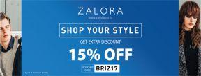 Diskon 15% di Zalora dengan Kartu Kredit BRI