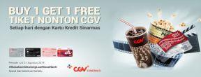 Buy 1 Get 1 Tiket Nonton di CGV dengan Kartu Kredit Sinarmas