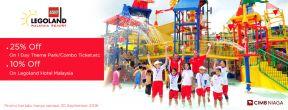 Diskon 25% untuk LEGOLAND day ticket dengan CIMB Credit Card