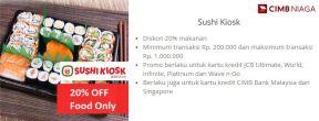 Diskon 20% di Sushi Kiosk dengan Kartu Kredit CIMB Niaga
