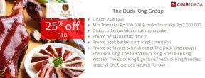 Diskon 25% di The Duck King Group dengan Kartu Kredit CIMB Niaga