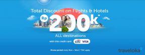 Diskon Pesawat dan Hotel di Traveloka Hingga 200.000 dengan Kartu Kredit Citi Visa