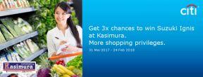 Lucky Draw Citibank Grand Prize Suzuki Ignis dengan Belanja di Kasimura
