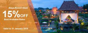 Diskon 15% Off di Alaya Resort Ubud dengan Kartu Kredit Danamon