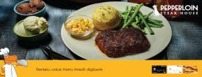 Hemat hingga 100.000 di Pepperloin Steakhouse dengan Kartu Kredit Digibank