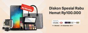 Diskon Rp100.000 Setiap Rabu dengan Kartu Kredit HSBC