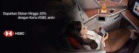 Diskon Hingga 20% Tiket Garuda Indonesia dengan Kartu Kredit HSBC