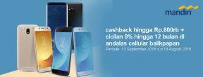 Promo Cashback Hingga 800ribu + Cicilan 0% di Andallas Cell dengan Mandiri Kartu Kredit