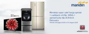 Promo Merdeka Super Sale Spesial di Artech Electronics dengan Kartu Kredit Mandiri