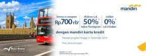 Spend & Get Program Bayu Buana Travel dan Mandiri Kartu Kredit