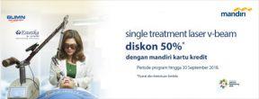 Diskon 50% untuk Single Treatment Laser V-Beam di Klinik Estetika Dr.Afandi Duren Tiga dengan Kartu Kredit Mandiri