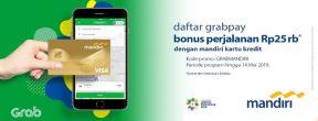 Daftar Grabpay dengan Mandiri Kartu Kredit Free Ride 25ribu