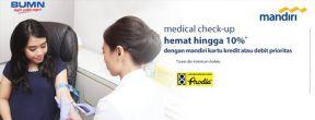 Hemat Hingga 10% untuk Medical Check Up di Prodia dengan Kartu Kredit Mandiri