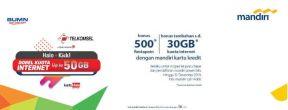 Bonus Ekstra Data hingga 30 GB dan Bonus 500 fiestapoin dengan Kartu Kredit Mandiri