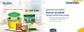 Bonus Paket Produk di Tiptop Supermarket dengan Kartu Kredit Mandiri