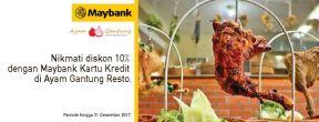 Diskon 10% dengan Maybank Kartu Kredit di Ayam Gantung Resto
