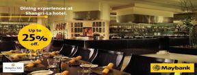 Diskon hingga 25% dengan Maybank Kartu Kredit JCB di Nishimura, Rosso, SATOO dan Jia Restaurant Shangri-La hotel