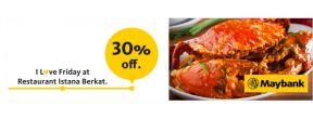 Diskon 30% dengan Maybank Kartu Kredit di Restaurant Istana Berkat Surabaya dengan Maybank Kartu Kredit