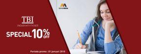 Diskon 10% di TBI dengan Kartu Kredit Mega