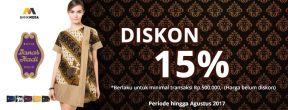 Diskon 15% di Batik Danar Hadi dengan Kartu Kredit Mega