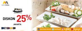 Diskon 25% di D'Pots Singapore Hotpot dengan Kartu Kredit Mega