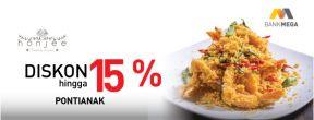 Diskon Hingga 15% di Honjee Pontianak dengan Kartu Kredit Mega