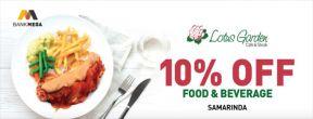 Diskon 10% OFF Lotus Garden Cafe & Steak dengan Kartu Kredit Mega
