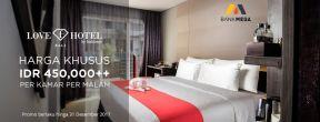 Promo Harga Khusus 450ribu++ per Malam di Love Hotel dengan Kartu Kredit Mega