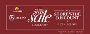 METRO GREAT SALE Diskon s.d 50% dengan Kartu Kredit Mega