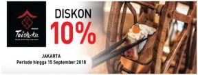 Diskon 10% di Teishoku dengan Kartu Kredit Mega