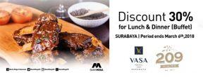 Diskon 30% Vasa Hotel Surabaya dengan Kartu Kredit Mega