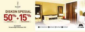 Diskon Spesial 50% + 15% di Hotel Zurich dengan Kartu Kredit Mega