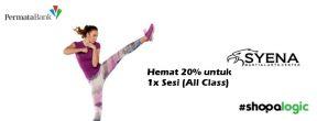 Hemat 20% untuk 1x Sesi (All Class) di Syena Martial Arts Center dengan Kartu Kredit Permata